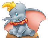 Dumbo Silhouette en carton