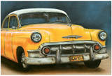 Chevrolet Bel Air Jaune Print by  Cobe