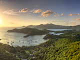 Caribbean, Antigua and Barbuda, English Harbour from Shirley's Heights Photographic Print by Michele Falzone