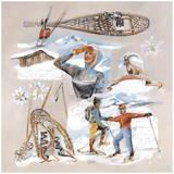 Marche En Raquette Prints by  Lizie