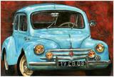4 CV Bleue Poster by  Cobe