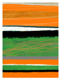 Orange and Green Abstract 2 Posters by  NaxArt