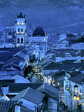 Cathedral Clock Tower, Colonial Streets and Rooftops, Sucre, Bolivia Photographic Print by John Coletti