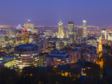 Canada, Quebec, Montreal, Downtown from Mount Royal Park or Parc Du Mont-Royal Photographic Print by Alan Copson