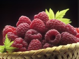Small Basket of Fresh Raspberries Photographic Print by Vladimir Shulevsky