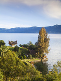 Indonesia, Sumatra, Samosir Island, Tuk Tuk, Lake Toba, Batak Tombs Photographic Print by Jane Sweeney