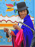 Woman at Indian Market in Silvia, Guambiano Indians, Colombia, South America Photographic Print by Christian Heeb