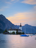 Schloss Ort on Lake Traunsee, Gmunden, Salzkammergut, Upper Austria, Austria Photographic Print by Doug Pearson