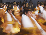Women Dancing in Festival, Sucre (UNESCO World Heritage Site), Bolivia Photographic Print by Ian Trower