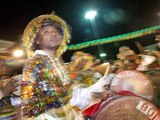 Brazil, Maranhao, Sao Luís, a Costumed Dancer at the Bumba Meu Boi Festival in the Praca Aragao Photographic Print by Alex Robinson