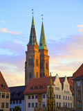 St. Sebald Church, (St. Sebaldus Church) at Sunset, Nuremberg, Bavaria, Germany Photographic Print by Neil Farrin