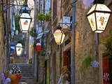 Lanterns, Dubrovnik, Dalmatia, Croatia Photographic Print by Neil Farrin