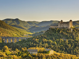 Italy, Umbria, Perugia District, Spoleto, Rocca Albornoz and Ponte Delle Torri Photographic Print by Francesco Iacobelli