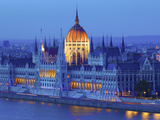 Hungarian Parliament Building at Dusk, Budapest, Hungary Photographic Print by Neil Farrin