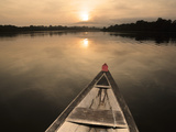 Boat on the Amazon River, Near Puerto Narino, Colombia Photographic Print by Christian Heeb