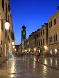 Old Town in the Evening, Stradun, Dubrovnik, Dalmatia, Croatia Photographic Print by Ivan Vdovin
