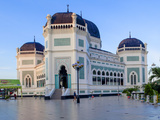Indonesia, Sumatra, Medan, Great Mosque Photographic Print by Jane Sweeney
