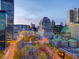Canada, Quebec, Montreal, Place Du Canada and Dorchester Square, Cathedral-Basilica of Mary, Fotodruck von Alan Copson