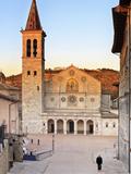 Italy, Umbria, Perugia District, Spoleto, View of the Duomo (Santa Maria Assunta Cathedral) Photographic Print by Francesco Iacobelli
