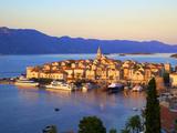 View over Korcula Town, Korcula, Dalmatia, Croatia Photographic Print by Neil Farrin