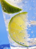 A Drink with Soda Water, Lemon and Ice Photographic Print