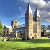 Southwell Minster (12th Century), Southwell, Nottinghamshire, England, UK Fotografie-Druck von Ivan Vdovin