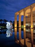 Brazil, Brasilia, Distrito Federal, Palacio De Itamaraty Photographic Print by Alex Robinson