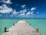 Bahamas, Eleuthera Island, Tarpum Bay, Town Pier Photographic Print by Walter Bibikow