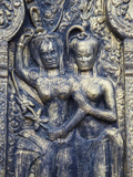 Bas-Relief at Wat Phnom, Phnom Penh, Cambodia Photographic Print by Ian Trower