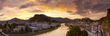 Sunrise over Hohensalzburg Fortressover and Alt Stadt, Salzburg, Salzburger Land, Austria Photographic Print by Doug Pearson