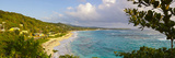 Elevated View over Long Bay at Sunrise, Portland Parish, Jamaica, Caribbean Photographic Print by Doug Pearson