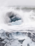 Ice on Jokulsa Beach, Iceland Photographic Print by Nadia Isakova