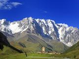 Shkhara Peak (5068 m), Ushghuli Community, Upper Svanetia, Georgia Photographic Print by Ivan Vdovin