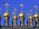 Cupolas of the Upper Saviour Cathedral (17th Century), Moscow Kremlin, Moscow, Russia Photographic Print by Ivan Vdovin
