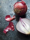 Red Onions, Whole and Halved Photographic Print by David Cleveland
