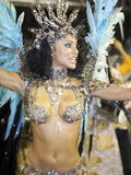 Rio De Janeiro, Rio De Janeiro City, Fabia Borges of the Imperio Da Tijuca Samba School at Carnival Photographie par Alex Robinson