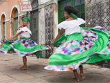 South America, Brazil, Dancers from the Tambor De Crioula Group Catarina Mina, in the Streets of Sa Photographic Print by Alex Robinson