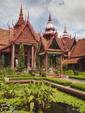 Courtyard at National Museum, Phnom Penh, Cambodia Photographic Print by Ian Trower