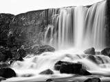 Oxararfoss Waterfall, Pingvellir National Park, Iceland Photographic Print by Nadia Isakova