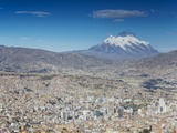 View of Mount Illamani and La Paz, Bolivia Photographic Print by Ian Trower