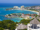 Elevated View over City and Coastline, Ocho Rios, St. Ann Parish, Jamaica, Caribbean Photographic Print by Doug Pearson