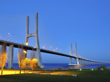 Vasco Da Gama Bridge and the Tagus River, Lisbon, Portugal Photographic Print by Mauricio Abreu