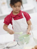 Small Girl Making Dough Photographic Print