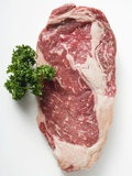 Beef Steak, Garnished with Parsley Reproduction photographique