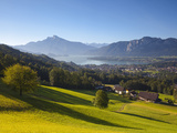 Alpine Meadow, Mondsee, Mondsee Lake, Oberosterreich, Upper Austria, Austria Photographic Print by Doug Pearson