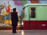 North Korea, Pyongyang, Punhung Station, 100 Metre Deep Subway Station on the Pyongyang Subway Netw Photographic Print by Gavin Hellier