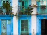 Cuba, Havana, Havana Vieja, Old Havana Buildings Fotodruck von Walter Bibikow