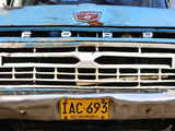 Detail of Car in the Colonial Town of Barichara, Colombia, South America Photographic Print by Christian Heeb
