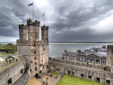 The Eagle Tower, Castle, Caernarfon, Gwynedd, Wales, UK Photographic Print by Ivan Vdovin