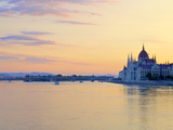 Hungarian Parliament Building at Sunrise, Budapest, Hungary Photographic Print by Neil Farrin